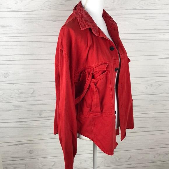 Boy London Jackets Coats Red Denim Jacket Size L Poshmark